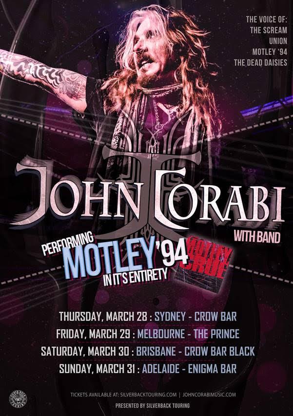 John Corabi Australian Tour Poster