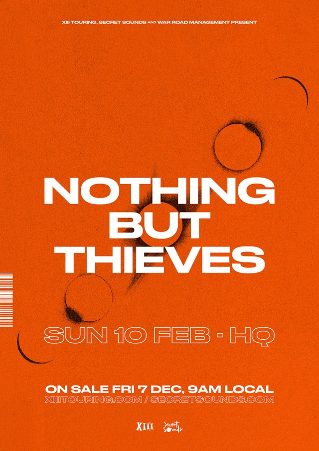Nothing But Thieves Adelaide Poster