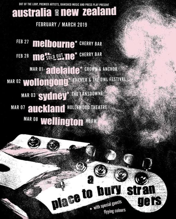 a place to bury strangers tour poster