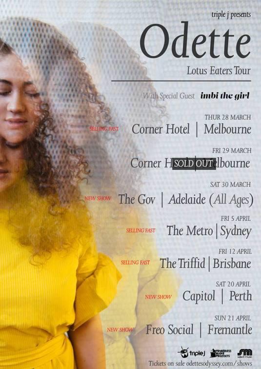 odette tour poster